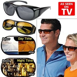 Accessories - HD Vision Wrap Around Driving Anti Glare Glasses